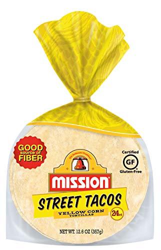 Mission Yellow Street Tacos Corn Tortillas, Gluten Free, Trans Fat Free, Mini Soft Taco Size, 24 Count