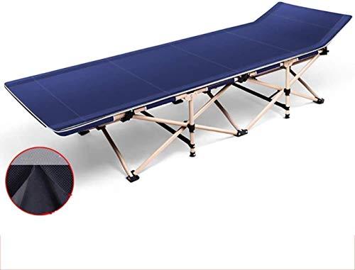 Balancelle pliant Sunbed Lit simple Bureau Beach Chair Portable Accompagnant Lit Siesta extérieur Plage Chaise Charge maximale 200 kg xiuyun (Color : Blue, Size : No cotton pad)