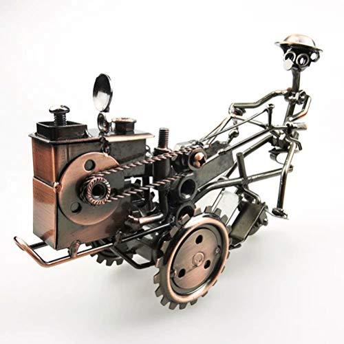Ttdbd Vintage Desktop-Dekoration Eisen Traktor Modell Handmade Classic Traktor Modelle Metall Retro Handwerk Sammler Eisen Kunst