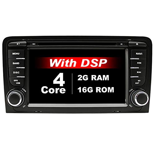Nrpfell IPS DSP 2G 32G Android 9.0 Car Dvd GPS per A3 8P 2003-2012 S3 2006-2012 RS3 Sportback 2011 Lettore Multimediale Radio Stereo