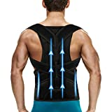Back Brace Posture Corrector for Women and Men - Adjustable Posture Back Brace for Upper and Lower Back Pain Relief - Improve Back Posture and Lumbar Support M(30''-34'')