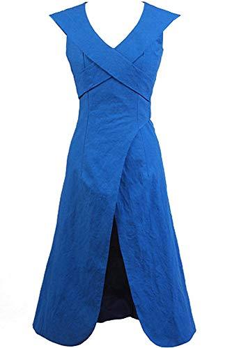 Cosplaysky Game of Thrones Costume Mother of Dragons Daenerys Targaryen Blue Dress X-Small