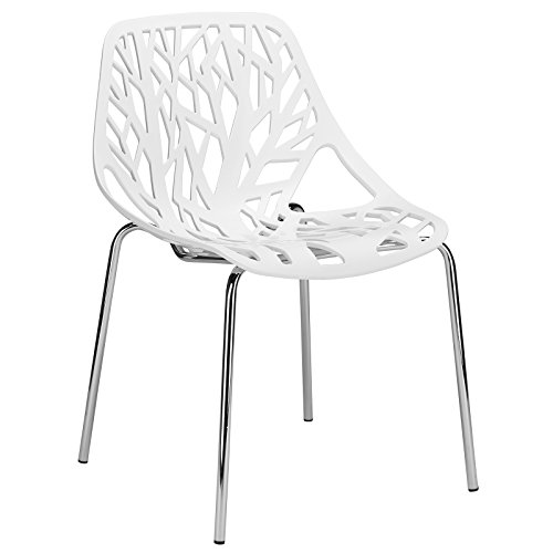 Poly and Bark Birds Nest Dining Side Chair, White