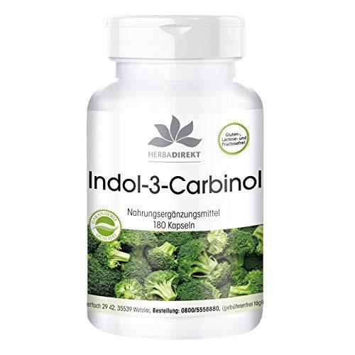 Indol-3-Carbinol – con brócoli en polvo – Vegano – 180 cápsulas