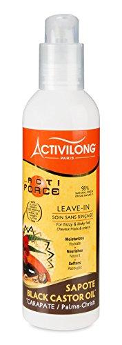 Activilong Actiforce Leave In Black Castor Oil Sapote Kastoröl und Sapote-Butter 240 ml