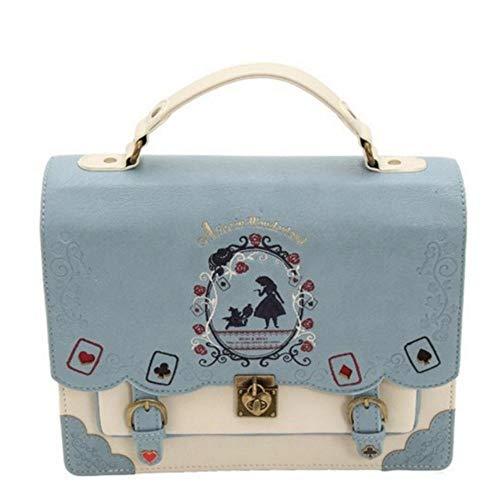 PLMNXHH Alice bag in Wonderland - Mochila para mujer o niña, mochila bandolera, 4, AA