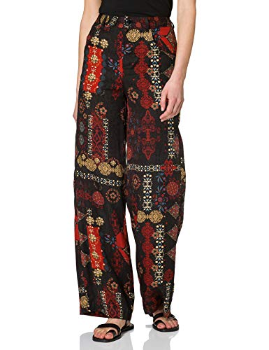Desigual Pant_INDA Pantalones Informales, Negro, 40 para Mujer