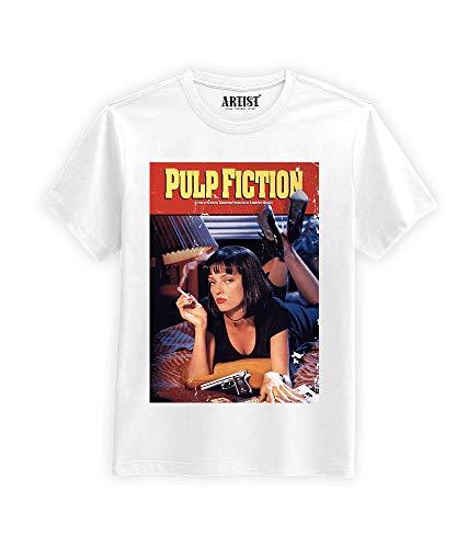 ARTIST T-Shirt Locandina Pulp Fiction (Bianco, L)