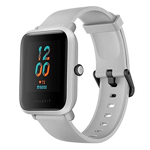 Amazfit Bip S Smartwatch Reloj Inteligente Fitness Rastreador con Monitor cardíaco y Gimnasia batería útil de 40 días duración Sumergible 5 ATM Bluetooth 5.0 / BLE Andriod iOS (White)