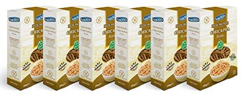 Sam Mills – Chickpea Pasta   Glutenfreie Nudeln aus Kichererbsen   6 x 250 g Packung Penne - Pasta aus Hülsenfrüchten