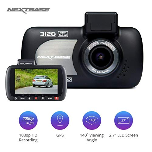 Nextbase 312G - Full 1080p HD In-Car Dash Camera DVR - 140° Viewing Angle - Black…