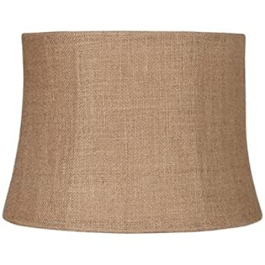 Natural Burlap Medium Drum Lamp Shade 12x14x10 (Spider)