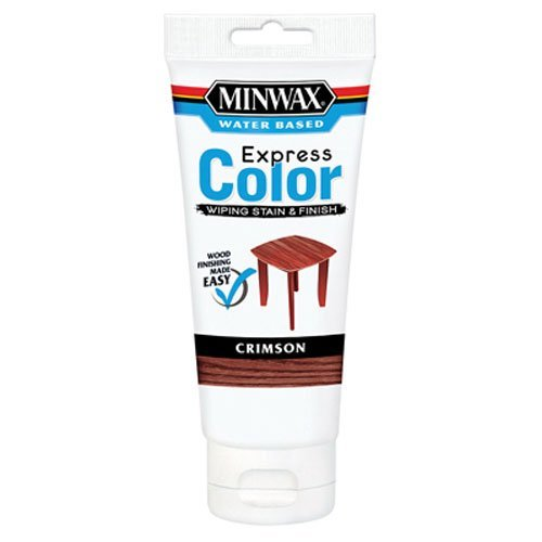 Minwax 308054444 Express Color Wiping Stain and Finish, Crimson