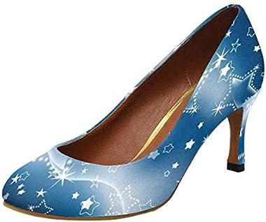 INTERESTPRINT Women's Elegant Office High Heels Pumps Shoes US5-US11