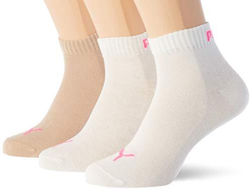 PUMA Quarter Plain Socks Calcetines de cuarto, Nomad, 35-38 (Pack de 2) Unisex adulto