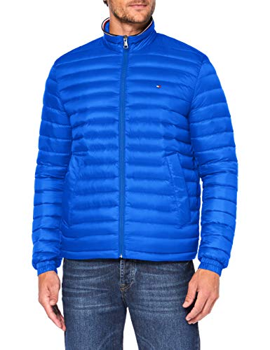 Tommy Hilfiger Herren Packable Down Jacket Jacke, TH Electric Blue 000039, XL