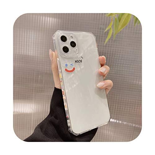 Cartoo - Funda para iPhone 12 11 Pro Max Xr X X Max 7 8 Puls SE 2020 Carcasa de silicona suave para iPhone 7