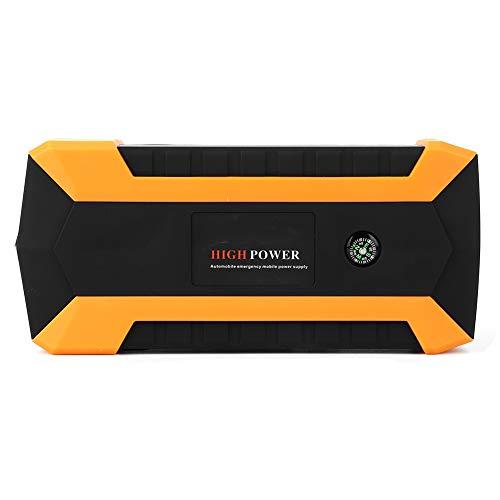 Akozon Arrancador de Coche Fuente de Alimentación de Arranque de Emergencia del Coche 1000 Amperios 12 V Cargador de Portátil Power Bank con SOS Puerto USB 20.000 MAh(EU Plug)