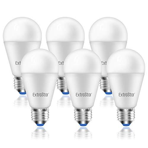 ExtraStar E27 LED Lampe, 15W(ersetzt 120W), A60 Lampen Kaltweiß 6500K, 1200LM, Kein Flackern, Nicht Dimmbar, 6-er Pack [Energieklasse A+], CE geprüft