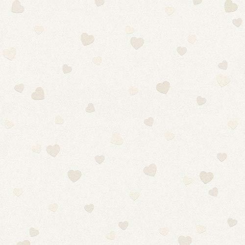 Papier peint anglais enfant 357501 35750-1 A.S. Création Boys & Girls 6 | Beige/Crème/Argent | Rouleau (10,05 x 0,53 m) = 5,33 m²