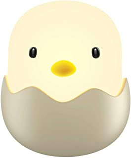 LED Night Light Cute Chick Night Light for Kids, Soft Silicone Kids Nightlight Rechargeable LED Touch Lamp, Baby Girl Boys Gifts, Birthday Gifts for Toddler Kids, White Light