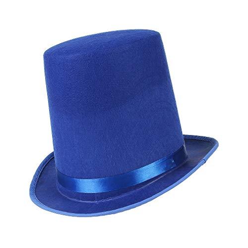 GEMVIE Sombrero de Copa Cosplay Mágico Hombre Mujer Fiesta Poliéster Gorro Jazz Disfraz de Mago Circunferencia /58-60cm