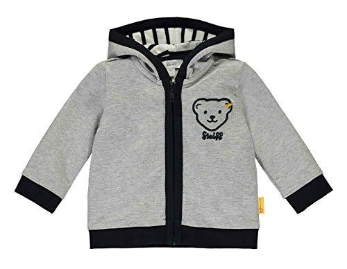 Steiff Baby Sweatjacke Ju.grau Kapuze Größe: 068 Farbe: grau