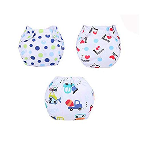 Baby Bucket All-in-One Bottom-Bumpers Cloth Diaper White Color (Set of 3)