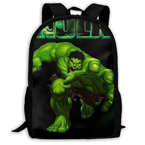 Qfunny Unisex Schultasche Rucksack Hulk School Backpack Lunch Bag Set School Bag Boys Girls Bookbag