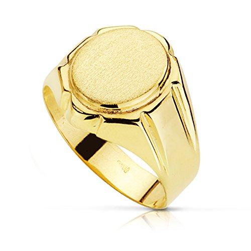 Herren-Ring Gabin. Männer Schmuck Gold Gelb 18K/750. Men Ring Juwel eingraviert personalisiertes