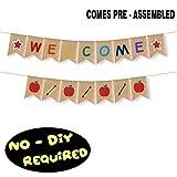 Welcome Burlap Bunting Banner Home Kindergarten Classroom Teacher Gift First Day of School