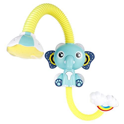 Huaduo Bañera de elefante para bebé, juguete aspersor, bomba de agua multifuncional, juguete de baño y recién nacidos, grifo de seguridad para lavadora, juguete de baño para niños