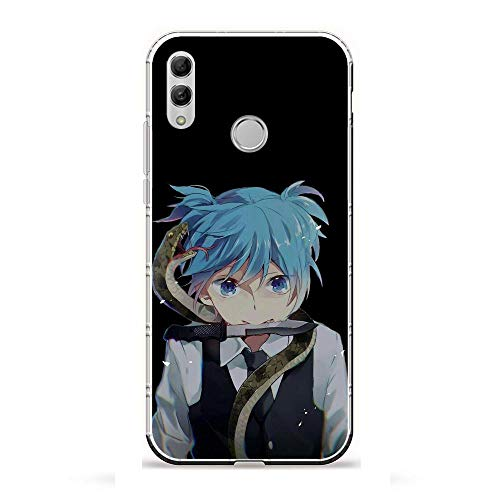 Fashiooppe Clear Silicone TPU Matte Anti-Shock Coque Cover Case for Huawei P Smart 2019/Honor 10 Lite-Assassination-Classroom Kyoushitsu 8