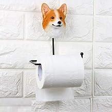 Yllang Leuke Pug Bulldog Tissue Box Dog Tissue Holder Badkamer Wall Mount Roll Paper Towel Holder Rack Resin (Color : Mult...