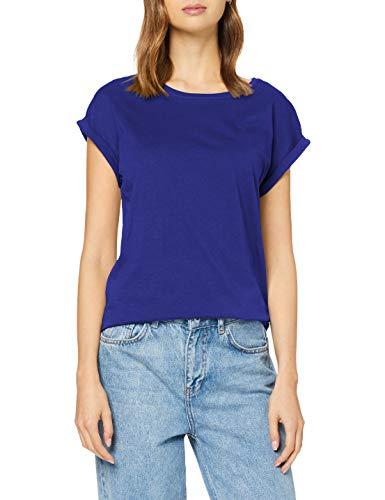 Urban Classics Damen Ladies Extended Shoulder Tee T-Shirt, bluepurple, L