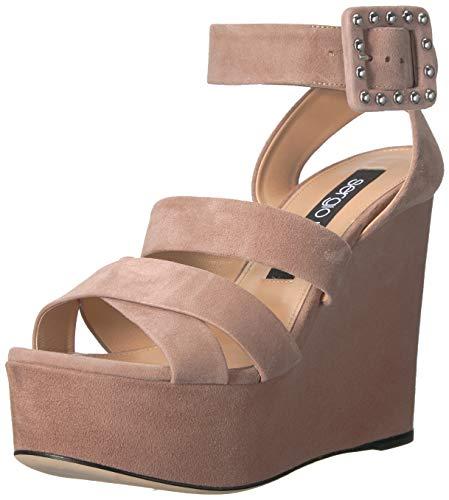 Sergio Rossi Women's Elettra Wedge Sandal, Cipria, 39 Medium EU (36,6 US)