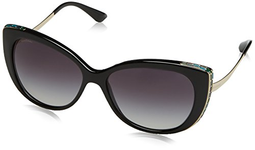 Bvlgari BV8178 901-8G Black/Gold BV8178 Cats Eyes Sunglasses Lens Category 3