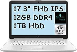 "2021 Newest Flagship HP 17 Laptop Computer 17.3"" FHD IPS, 10th Gen Intel Quad-Core i5-10210U(Beat i7-8550U), 12GB RAM, 1TB..."
