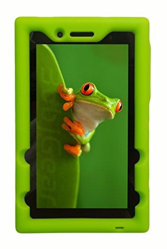 Bobj Rugged Case for Lenovo Tab 3 Essential, TB3-710F, TB3-710I, (NOT FOR Tab 7 Essential TB-7304F or any other Lenovo model) - BobjGear - Venting - Sound Amplification - Kid Friendly (Gotcha Green)