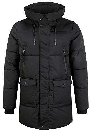 !Solid Anato Herren Winterparka Parka Winterjacke mit Kapuze und hochabschließendem Kragen, Größe:M, Farbe:Black (194007)