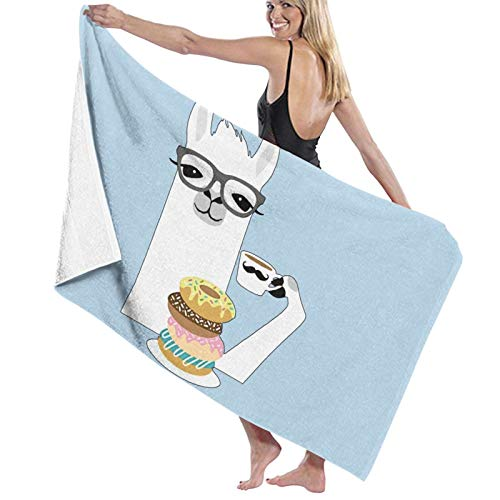 Llama Donut Toalla de baño de secado rápido suave toalla de ducha de playa 130 x 80 cm