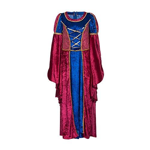 Kostümplanet® Mittelalter Kostüm Kinder Mädchen Prinzessin-Kostüm mit Tasche Größe 128