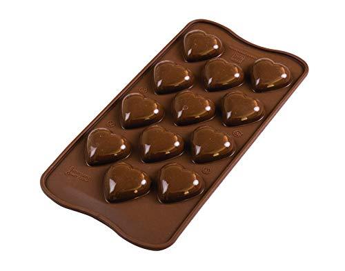 Silikomart 199387 Stampo in Silicone per cioccolatini My Love by, marrone