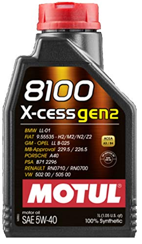 Olio Auto Motul 8100 X-cess gen2 5W40-1 lt