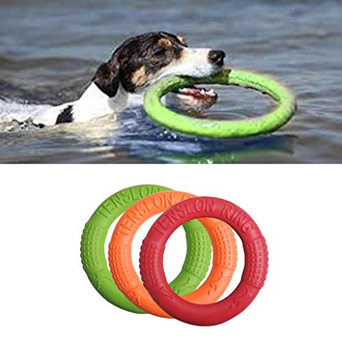 Vektenxi Premium Qualität Haustier Ring Eva Training Übung Ringe Outdoor-Spielzeug, interaktive saubere Zähne multifunktionale Biss Kauen Ultraleicht tragbare Bewegung für Hundewelpen