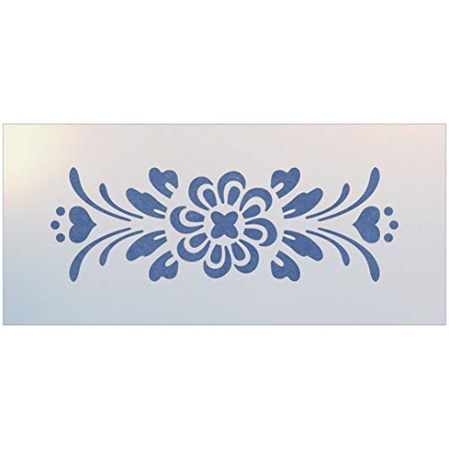 Rosemaling Pattern 4 Stencil - The Artful Stencil