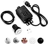 Garbage Disposal Air Switch Kit, Sink Top Waste Disposer SHORT POLISHED Stainless Steel On/Off Push...