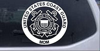 United States Coast Guard Mom Military Car Window Wall Laptop Decal Sticker