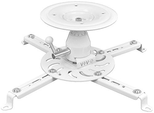 VIVO Universal Articulating Swivel Tilt Premium Ball Joint Heavy Duty Ceiling Projector Theater Mount, Full Motion White (MOUNT-VP04W)