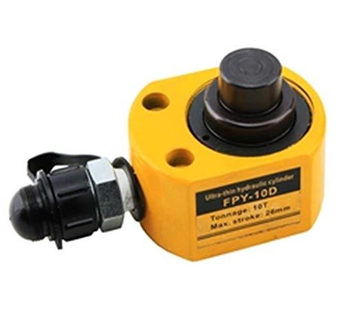 Newtry Hydraulischer Wagenheber mit niedrigem Profil, 26 mm (1 Zoll) Mini-Hydraulikzylinder, Industrie, superdünn, nicht für Auto, 10T
